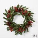 《 クリスマス リース 》◆とりよせ品◆花びし ベリーリース グリーン/レッド造花 クリスマスリース