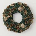 《 クリスマス リース 》◆とりよせ品◆花びし ジーヴルリース(L) グリーン造花 クリスマスリース
