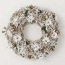 《 クリスマス リース 》◆とりよせ品◆花びし ジーヴルリース(L) ホワイト造花 クリスマスリース