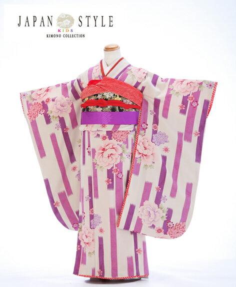ブランド japanstyle 薔薇 華やか 紫【【七五三 7歳 着物 レンタル】 【7歳…...:r-kimonoshop:10000314