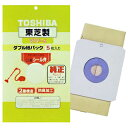 東芝 掃除機用紙パック (5枚入) 防臭加工 シール弁付きダブル紙パック VPF−6