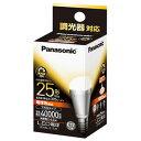 パナソニック LED電球「電球色相当/E17口金/全光束370lm」EVERLEDS「小形電球タイプ」 LDA6LE17D‐チョウコウ
