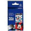 ブラザー ラベルライター用キャラクターテープ (12mm幅/黒文字/ミッキーホワイト) TZe‐MW31