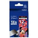 ブラザー ラベルライター用キャラクターテープ (12mm幅/白文字/ミニーレッド) TZe‐MR35