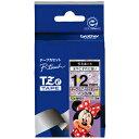 ブラザー ラベルライター用キャラクターテープ (12mm幅/黒文字/ミニーバイオレッド) TZe‐MV31