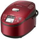 日立 圧力スチームIH炊飯ジャー「蒸気カット 極上炊き 圧力&スチーム」(5.5合) RZ‐XV100BKM‐R(レッド)(送料無料)
