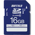 バッファロー UHS−I Class1 SDHCカード 16GB RSDC−016GU1H