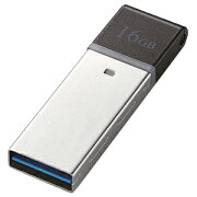 エレコム コンパクトUSB3.0メモリ 16GB MF−GLU316GBK (ブラック)