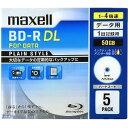 樂天商城 - マクセル 1−4倍速対応データ用ブルーレイディスクBD−R DL(50GB・5枚)  BR50PPLWPB.5S