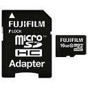富士フィルム 16GB・Class10対応microSDHCカード(SDHC変換アダプタ付) MCSDHC−016G−C10