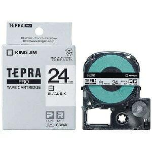 キングジム テプラPROテープカートリッジ(白ラベル・24mm) SS24K (白/黒文字)