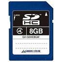 グリーンハウス 8GB・Class4対応SDHCカード GH‐SDHC8G4F