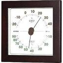 エンペックス 温湿度計「ウエストン」 TM‐762 (ウォルナット)