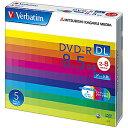 三菱ケミカルメディア データ用DVD−R DL(2−8倍速/8.5GB)5枚パック DHR85HP5V1