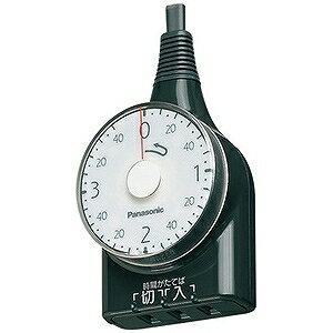 パナソニック ダイヤルタイマー(3時間形) WH3211BP (ブラック)