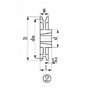 エバオン ブッシングプーリー SPB 300mm 溝数1 SPB3001(送料無料):コジマ店