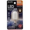 エルパ LED電球 ナツメタイプ(電球色) LDT1L−G−E12−G101