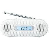 パナソニック 「ワイドFM対応」FM/AM 手回し充電ラジオ RF‐TJ20‐W(ホワイト)
