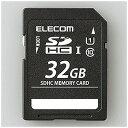 エレコム SDHCメモリカード UHS−I/UHS スピードクラス1対応 [Class10対応/32GB] MF‐BSD‐032