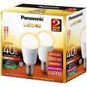 パナソニック 調光器非対応LED電球(電球色相当・口金E17/2個入) LDA4LGE17K40ESW2T