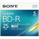 ソニー 録画用BD−R Ver.1.3 1−6倍速 25GB 5枚【インクジェットプリンタ対応】 5BNR1VJPS6