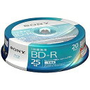 ソニー 録画用BD−R Ver.1.3 1−6倍速 25GB 20枚【インクジェットプリンタ対応】 20BNR1VJPP6