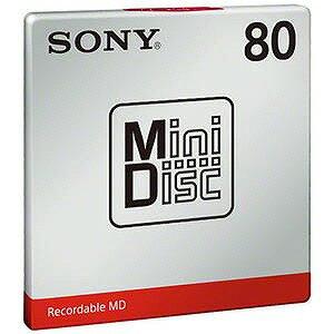 ソニー ミニディスク 80分 1枚 MDW80Tの商品画像