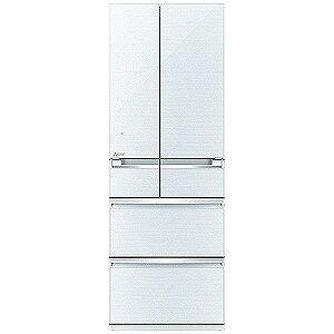 三菱 6ドア冷蔵庫(517L・フレンチドア)「置けるスマート大容量 WXシリーズ」 MR‐WX52A‐W (クリスタルホワイト)(標準設置無料)