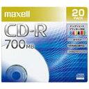 マクセル 1〜48倍速対応 データ用CD−Rメディア (700MB・20枚) CDR700S.PNW.20S