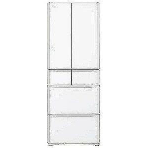 日立 6ドア冷蔵庫(430L・フレンチドア)「真空チルド プレミアム XGシリーズ」 R−XG4300G−XW (クリスタルホワイト)(標準設置無料)