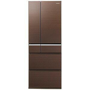 パナソニック 6ドア冷蔵庫(501L・フレンチドア)「XPVタイプ」 NR−F502XPV−T (マチュアブラウン)(標準設置無料)