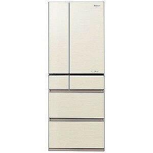 パナソニック 6ドア冷蔵庫(501L・フレンチドア)「PVタイプ」 NR−F502PV−N (シャンパンゴールド)【標準設置無料】