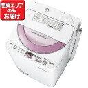 シャープ 全自動洗濯機(6.0kg) ES−GE6A−P (ピンク系)【標準設置無料】