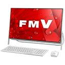 富士通 23.8型デスクトップPC[Celeron・HDD 1TB] FMVF52B1W (ホワイト)(送料無料)