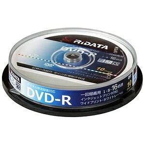 録画用DVD−R 1−16倍速 4.7GB 10枚(インクジェットプリンタ対応) DRCP16XPW10RDD