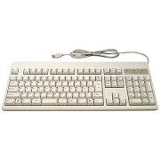 有線キーボード[USB 1.6m・Win](日本語配列108キー・ホワイト) XE0100(送料無料)