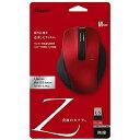 ワイヤレスBlueLEDマウス Zシリーズ(Mサイズ・5ボタン)レッド MUS−RKF129R