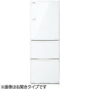 東芝 3ドア冷蔵庫(363L・左開き) GR−K36SXVL−ZW (クリアシェルホワイト)(標準設置無料)