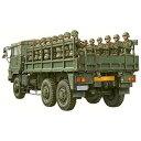 青島文化 1/72 ミリタリーモデルキット 陸上自衛隊 ◆73式大型トラック 3t半(乗車隊員20体セット)