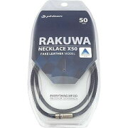 ファイテン RAKUWAネックX50 フェイクレザーモデル(ダークネイビー/50cm) 0716TG716253《ビックカメラモデル》