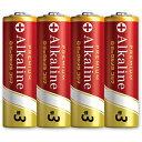 FDK 「単3形乾電池」 4本 アルカリ乾電池 LR6BKP4S