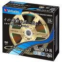 三菱ケミカルメディア 録画用DVD−R 1−16倍速 10枚 CPRM対応 VHR12JC10V1