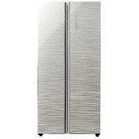 AQUA 2ドア冷蔵庫 (449L) AQR−SBS45F−S ヘアラインシルバー 「パノラマ・オープン」(標準設置無料)