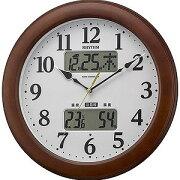 リズム時計工業 電波掛け時計 「インフォームナビM623」 4FY623SR06(送料無料)