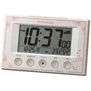 リズム時計工業 電波デジタル目覚まし時計 「ハローキティR166」 8RZ166MB03