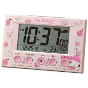 リズム時計工業 電波デジタル目覚まし時計 「マイメロディR166」 8RZ166MY13