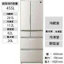 シャープ 6ドア冷蔵庫 (455L) SJ−F462D−S ...