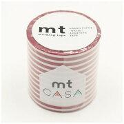 カモ井加工紙 mt CASA 50mm(ボーダー・いちご) MTCA5108