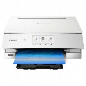 キヤノン CANON インクジェット複合機「PIXUS(ピクサス)」[カード・名刺〜A4対応/USB2.0/無線LAN] PIXUSTS8230WH ホワイト