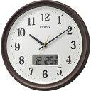 リズム時計工業 RHYTHM 温度・湿度計付電波掛け時計 「フィットウェーブリブA02」 8FYA02SR06